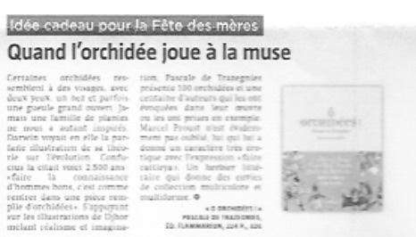 Article Sud Presse - Orchidées Pascale de Trazegnies