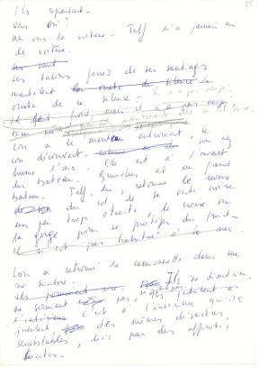 Lettre manuscrite - Transformation de l'écriture
