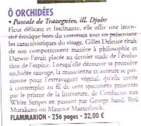 Orchidées Amour des livres