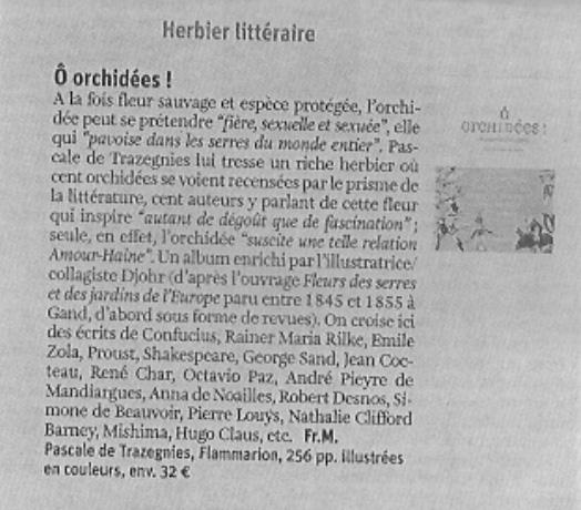 Orchidées La Libre Belgique